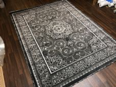 Modern Rugs Approx 9x7ft 270x220cm Woven Thick Sale Top Quality Greys/Silver New